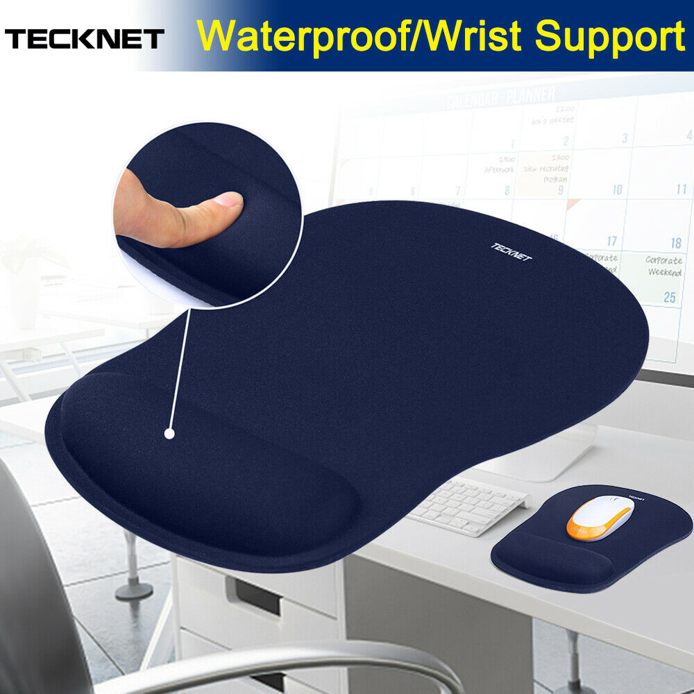 TeckNet tapis de souris de bureau classique tapis de souris de jeu tapis de souris ergonomique tapis de souris éponge douce intégrée avec Gel repose-poignet tapis de souris