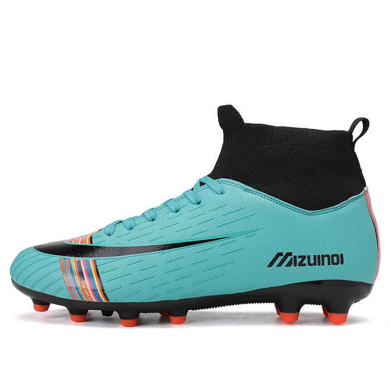 Đá Nam Bóng Đá Giày Cao Cổ Chân Dài Gai Bé Trai Cleats Đào Tạo Giày Thể Thao Sneakers Đá Nam Zapatos De Futbol