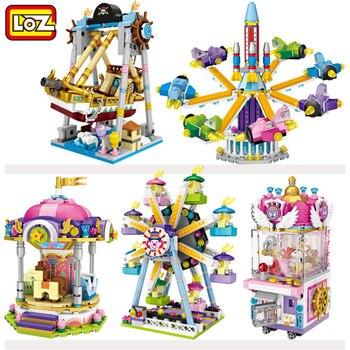 LOZ Blocks Mini Toy Amusement park Series Figures Gift For Girl Boy Women Friends Diamond Building Block Toy bricks without Box