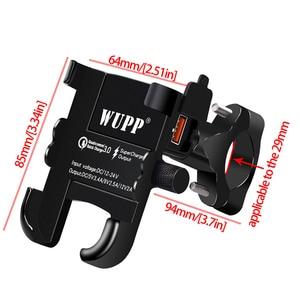 Image 2 - Lmodriユニバーサル電話ホルダーqc 3.0 オートバイのusb充電器防水 12 12vバイク携帯電話マウント電源アダプタミラー