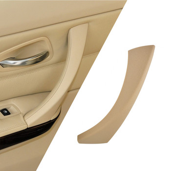 Car Inner Handle Interior Door Panel Pull Trim Cover Gray Beige Black left Right For BMW 3 series E90 E91 316 318 320 325 328 image