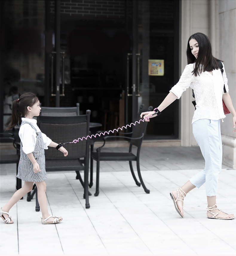 Disney Safety Lock Baby Anti Lost Wrist Link Harness Strap Rope Leash Walking Hand Belt Band Wristband For Toddlers Children