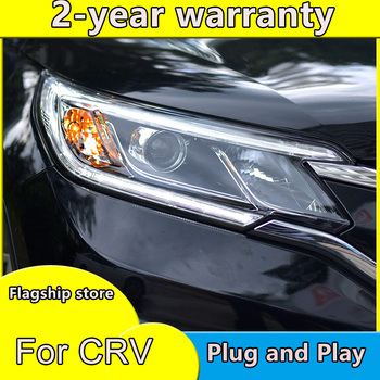 Car Styling For Honda CRV headlights 2015 2016 head lamp LED DRL front light Bi-Xenon Lens xenon HID
