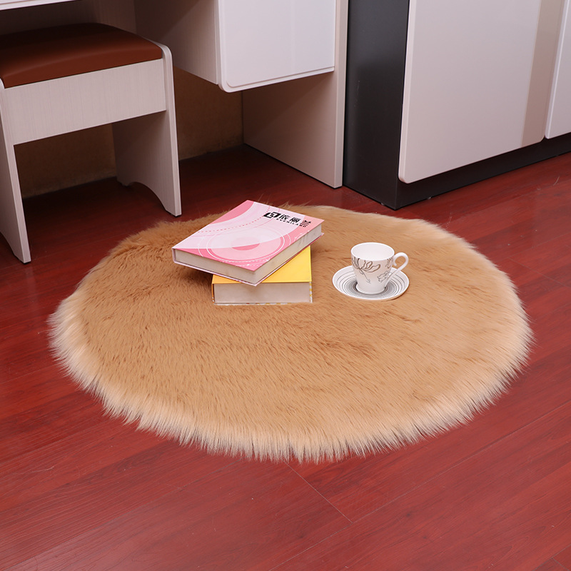 Fluffy Rugs Popular Anti-Skid Area Rug Round Bedroom Floor Mat Carpet 1PC Home Decoration High Quality Shaggy Dining Room