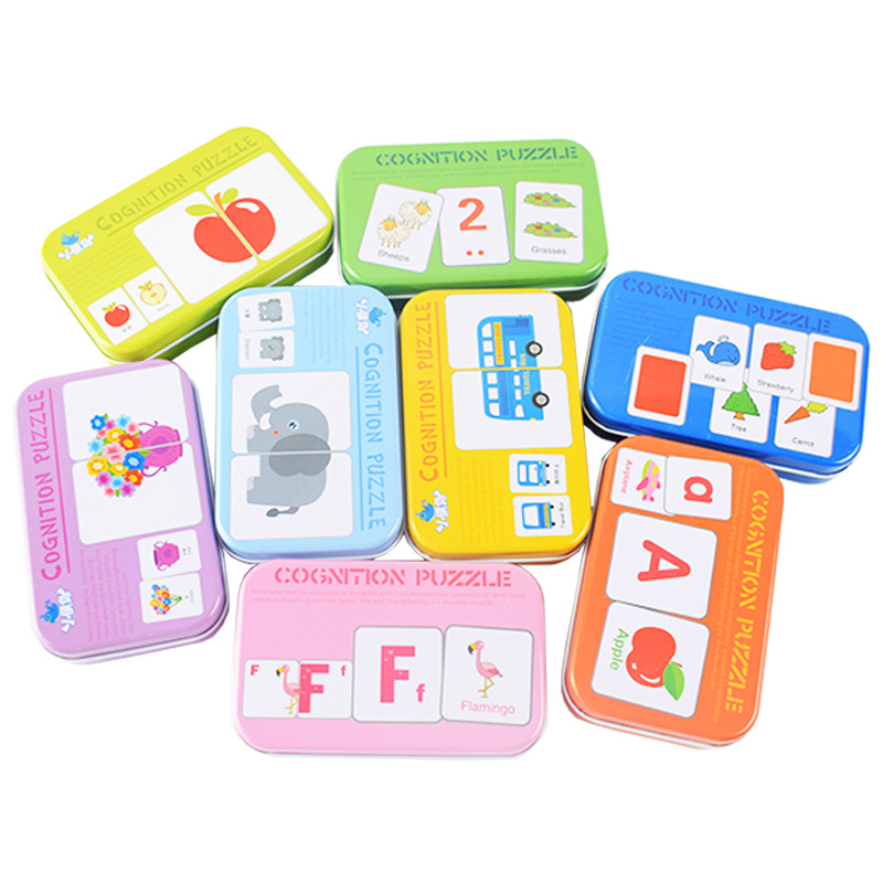 Baby Kid Educational Toys Learn English Puzzle Montessori Cognitive Card Infant