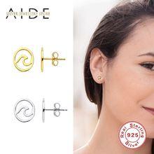 Aide простые круглые серьги гвоздики для женщин подарок девочки