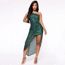 2020 Европа и США новые женские платья с блестками сексуальные