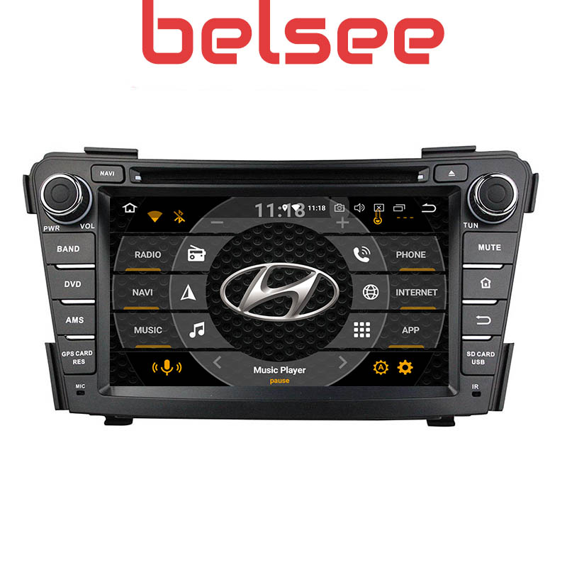Belsee Car DVD <font><b>GPS</b></font> Android 9.0 Head Unit Car Multimedia System Audio Player Touch Screen HD for <font><b>Hyundai</b></font> <font><b>i40</b></font> 2011 2012 2013 2014 image