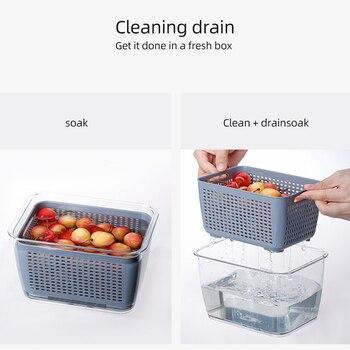 Bo te de rangement multifonctionnelle cuisine r frig rateur bo te de conservation en plastique l
