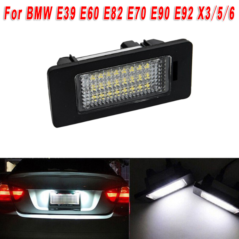 For BMW E39 E60 E82 E70 E90 E92 X3/5/6 LED Lamp License Number Plate Light Bulbs