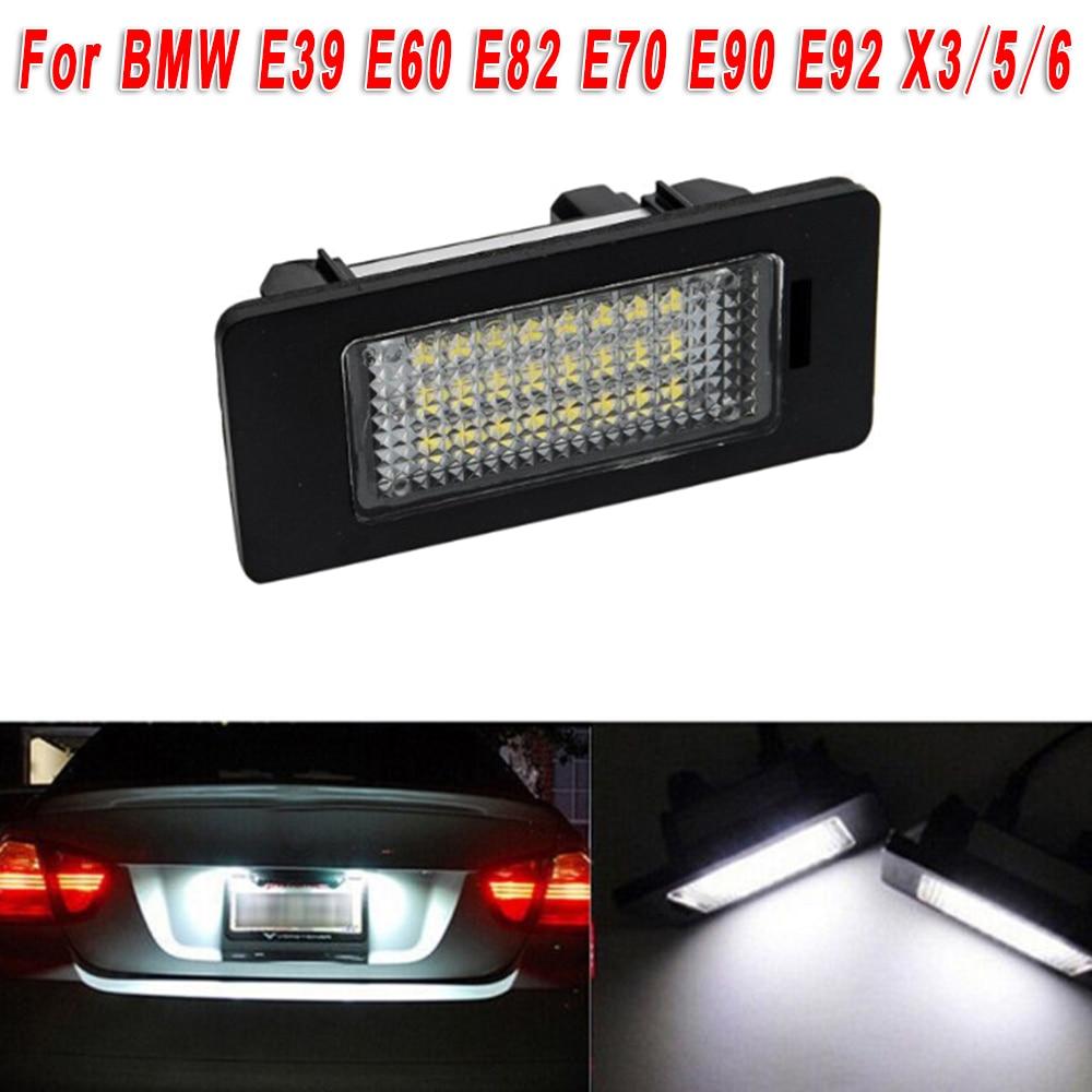 For BMW E39 E60 E82 E70 E90 E92 X3/5/6 LED Lamp License Number Plate Light Bulbs
