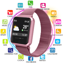 New Smart Watch Men Women 2019 Blood Pressure Blood Oxygen Heart Rate Monitor Sports Tracker Smartwatch IP68 Connect IOS Android smart watch men women blood pressure heart rate monitor fitness sports tracker smartwatch ip68 connect ios android pk dz09 q18