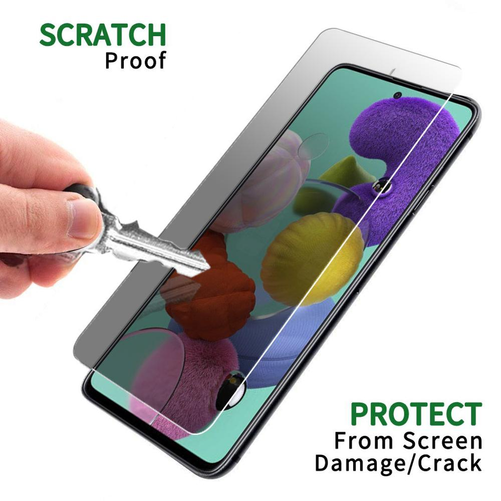9H Privacy Tempered Glass For Samsung Galaxy A71 Screen Protector For Samsung A71 Anti Spy Anti Peening Protective Film Glass