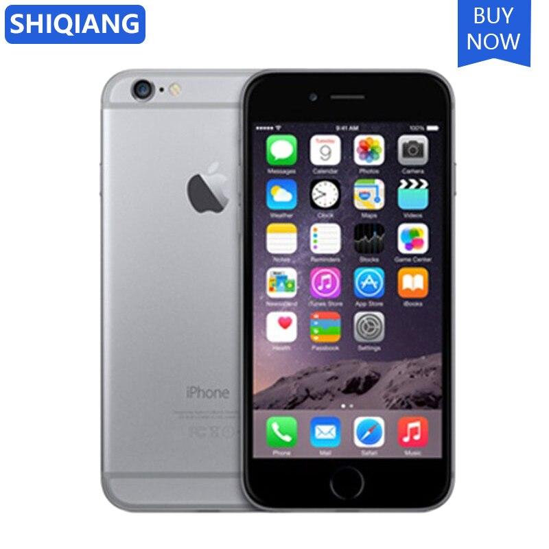 Apple iphone 6/6-plus original desbloqueado Cell-Phone-1gb-Ram 16/64/128g a8 duplo núcleo reconhecimento de impressão digital 8mp ios 4g lte