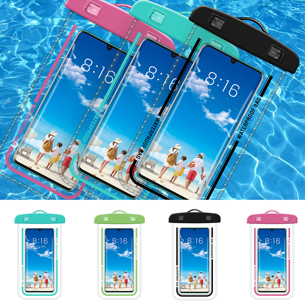 Hcb80b9e432e84537a9a456696291187fv - Waterproof Phone Pouch Drift Diving Swimming Bag Underwater Dry Bag Case Cover For Phone Water Sports Beach Pool Skiing 6 inch