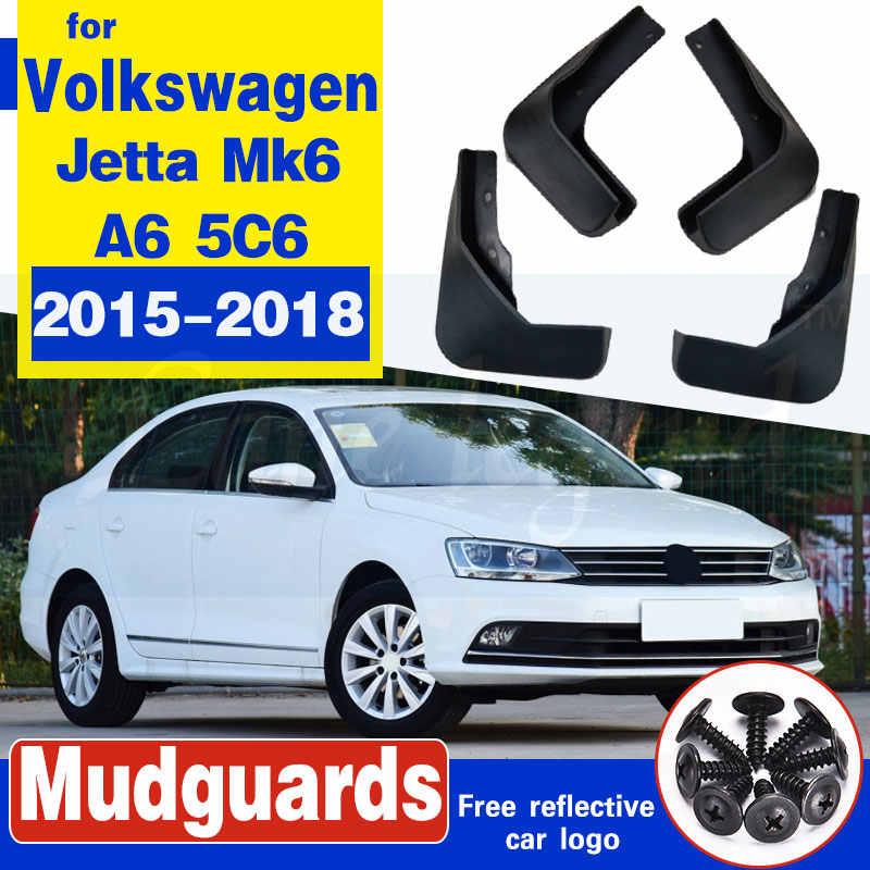 HIGH FLYING for VW Volkswagen Jetta A6 MK6 2010 2012 2013 2014 Sedan Mud Flaps Splash Guard Front and Rear Mudguard Fender 4pcs