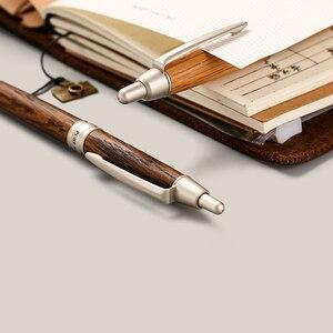 Image 4 - ワンピース日本ユニ純粋な麦芽ボールペン0.7ミリメートルオーク材天然またはダークブラウン色SS 1015
