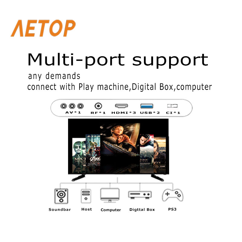 Free shipping-flat screen tv android television 65 smart tv 4k led screen tv with DVB-T2/S2