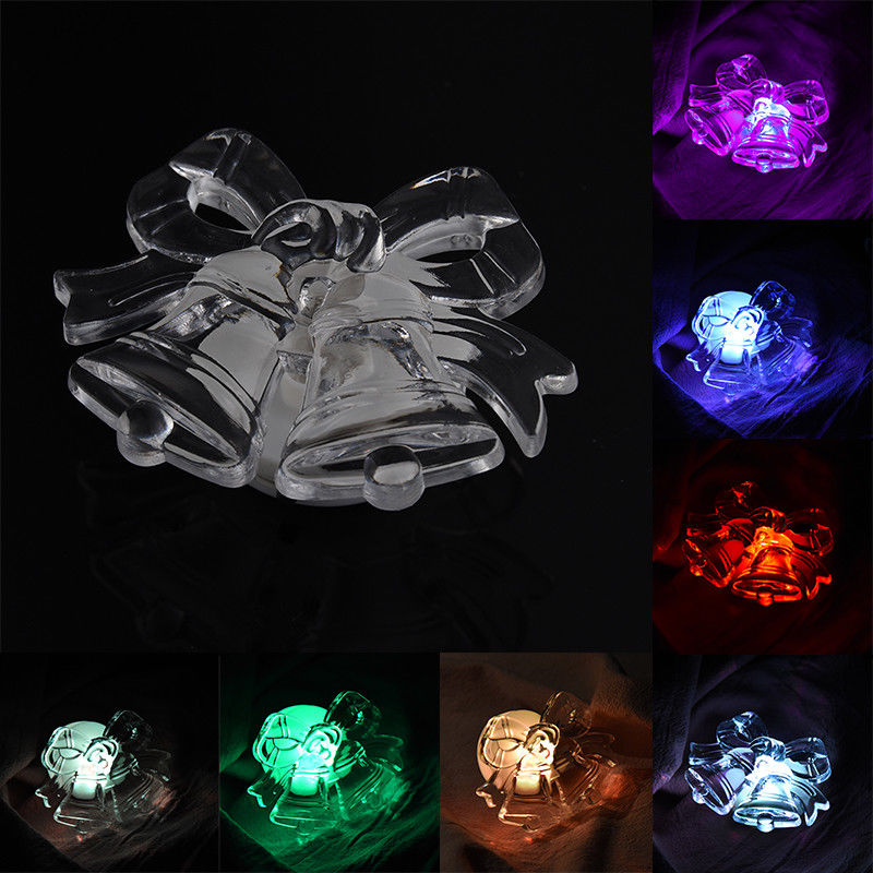Christmas 3D LED Acrylic Night Light 7 Colors Flashing Touch Switch Christmas Home Decor image