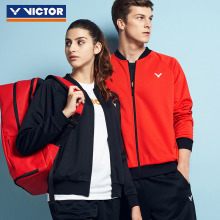 VICTOR Новое поступление одежда для бадминтона трикотажное спортивное пальто куртка с длинными рукавами Повседневное спортивное пальто J-95603