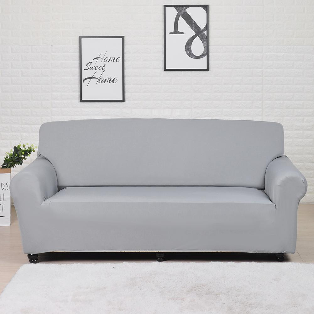 Solid Color Sofa Cover Big Elasticity Stretch Couch Cover Loveseat Sofa Corner Sofa Towel Furniture Cover 1/2/3/4 Seater 2