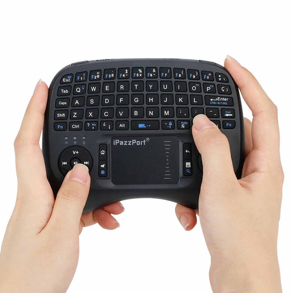 2.4 Ghz Mini Wireless Qwerty Toetsenbord Met Achtergrondverlichting Voor Desktop / Laptop Dual Muis Usb Ontvanger Plug En Play 4 talen