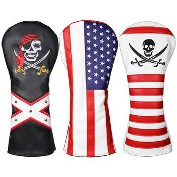 цена на PU Golf Wood Head Cover  Golf Club Headcover Protector For Golf Driver Golf Accessories