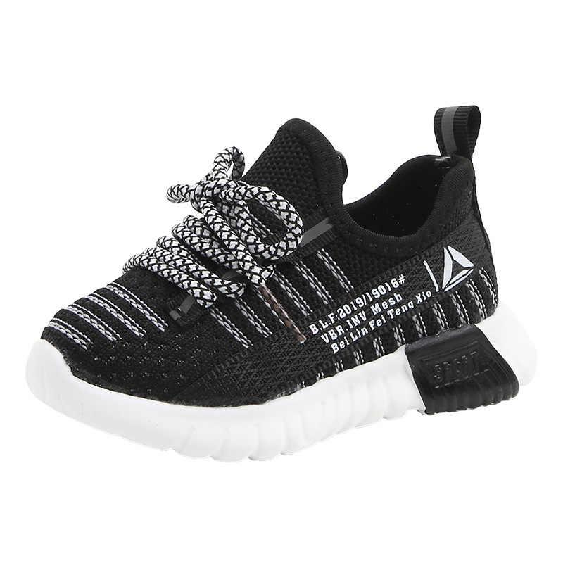 2020 yeni çocuk Sneakers erkek kız moda hava örgü bebek spor ayakkabılar nefes yumuşak alt kaymaz rahat çocuklar Sneakers
