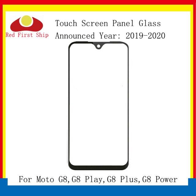 10 adet/grup yedek LCD ön dokunmatik ekran cam dış Lens Motorola Moto G8 oyun artı dokunmatik Panel cam G8 güç cam