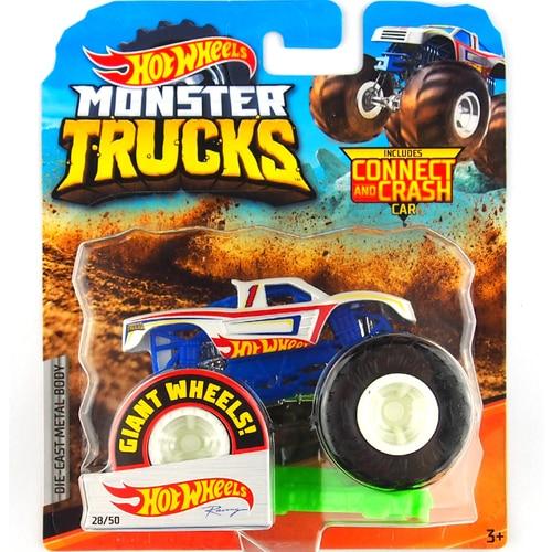 1: 64 оригинальные горячие колеса гигантские колеса Crazy Barbarism Монстр металлическая модель грузовика игрушки Hotwheels большая ножная машина детский подарок на день рождения - Цвет: 28