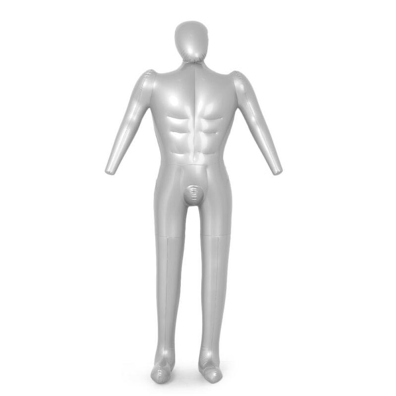 Hombre de cuerpo completo maniquí inflable macho torso de maniquí Sastre ropa modelo mostrar hombre modelo de cuerpo completo para el hogar Diy herramientas piezas Pelo de 60cm con cabeza de maniquí, peluquería, modelo de maniquí para mujer, cabeza de maniquí con pinza, peluca roja, pelo largo