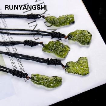 Runyangshi 1pc Natural aventurine cuarzo piedra reiki péndulo orgine energía colgante curación Pendulo joyería de Chakra