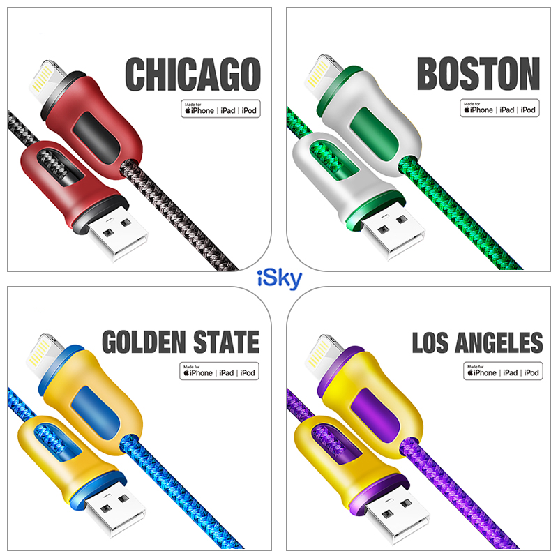iSky MFi Cable for Phone 1211X8765 Plus for Lighting to USB Fast Charge Data Sync Basketball Lead for 8Pins iOS13