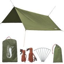 Desert&Fox 3x3m Camping Waterproof Tarp Tent Hammock Tarp Rain Fly Picnic Mat with Carry Bag Outdoor Awning Beach Shelter