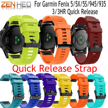 26 22 20mm Watchband for Garmin Fenix 5X 5 5S Plus 3 HR Forerunner 945/935 Watch Quick Release Silicone Easy fit Wrist Band