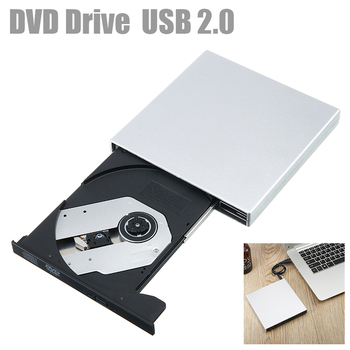 USB 2.0 External DVD-RW CD-RW ROM DVD CD Player Drive Writer Rewriter Burner Portable For Windows 7/8 Laptop Computer usb 3 0 dvd drive external dvd rw cd writer drive burner reader player optical drives for laptop pc