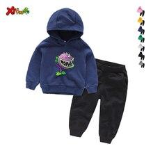 Children Set 2020 Spring Autumn Toddler Boys Clothes Sets Hoodeds Plants Vs Zomb