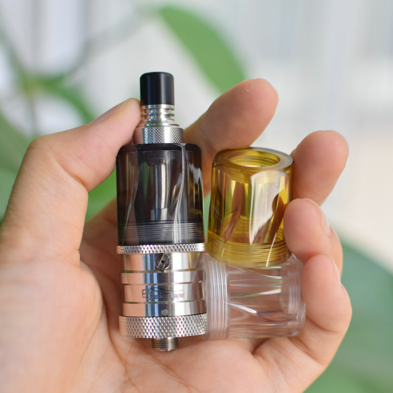 Diamond Bellcap For Flash E Vapor V4.5 Bellcap Ultem Bell Cap Ice Black Replacement Tank For Flash E Vapor V4.5 RTA Accessories