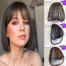 LVHAN 4 цвета клип в волосы челка шиньон синтетический имитация челок волос кусок клип в наращивание волос