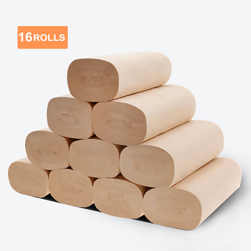 Toilet Paper 100% Recycled 4 Ply Yellow Bath Tissue 16 Individually Wrapped Rolls Per Case Toilet Paper 16 Rolls