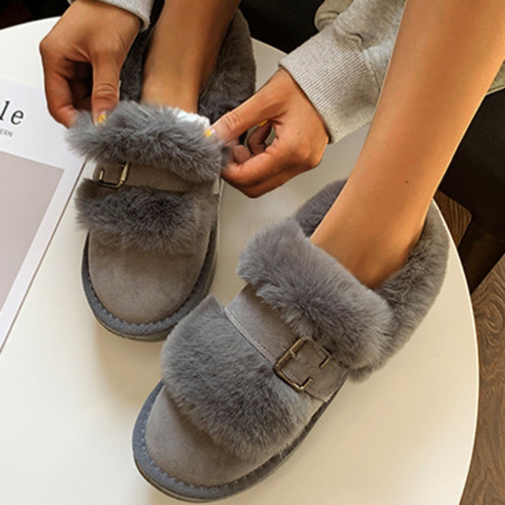 Quality Woman Boots Snow Ankle Boots Plush lining Heels Shoes Woman Female Warm Comfort Boots 2019 Flat 57