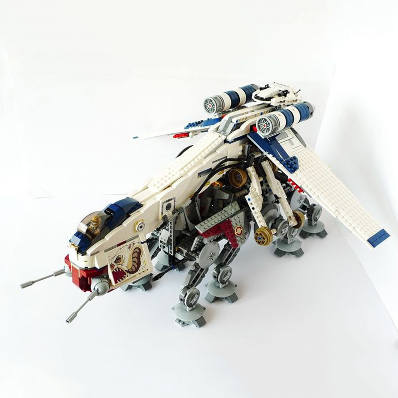05053 Genuine Star moive Was Republic Dropship with AT-OT Walker Set Building Blocks Bricks Compatible Lepining <font><b>10195</b></font> toys image