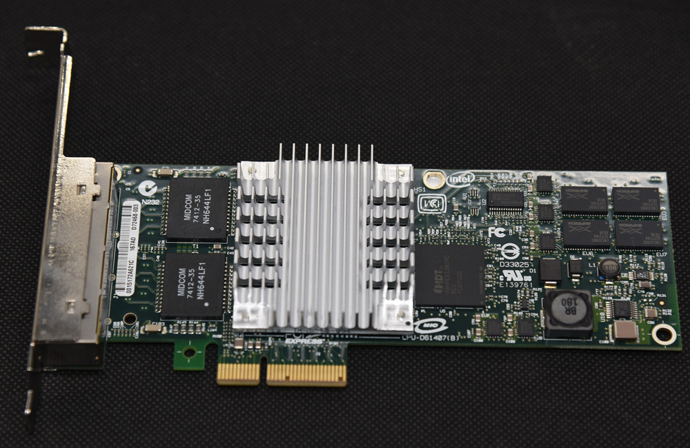 Intel EXPI9404PT/ EXPI9404PTBLK HP NC364T 435506-001 436431-001 IBM 39Y6138 PRO/1000 PT Gigabit PCI-E Quad Port Server Adapter
