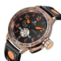 Top Luxury Brand MG. ORKINA Watch Mechanical Watches Men Automatic Mechanical Tourbillon Watches Male Clock Relogio Masculino