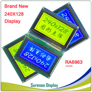 """Image 5 - 4.7"""" 240128 240*128 Graphic Matrix LCD Module Display Screen build in RA6963/UCi6963 Controller Yellow Blue with Backlight"""