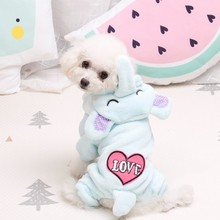 Cute Soft Dog Pajamas Winter Dogs Jumpsuit Clothes  Chihuahua Ropa Perro Small Clothing Pet Overalls Bulldog x