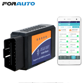 цена на FORAUTO ELM327 V2.1 OBD2 Code Reader Bluetooth ELM327 OBDII Auto Diagnostic Tool For Android OBD2 Car Diagnostic Tool Scanner