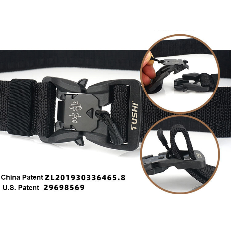 HSSEE Official Genuine Tactical Belt Hard PC Quick Release Magnetic Buckle Military Belt Soft Real Nylon Sports Accessories 3