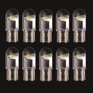 10 Pcs W5W T10 2825 168 192 COB LED Car Bulbs 12V DC License Plate Light Turn Signal Dome Lights Parking Lamp