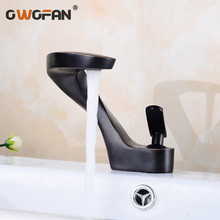 Basin Faucet Bathroom Sink Faucet Black Taps Basin Faucet Mixer Single Handle Hole Deck Wash Hot Cold Mixer Tap Crane S79-425 цена и фото